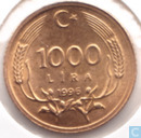 Turkey 1000 lira 1996