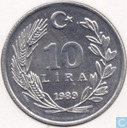 Turkey 10 lira 1989