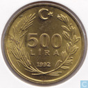 Turkey 500 lira 1992