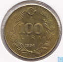 Turkey 100 lira 1994