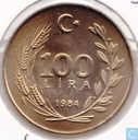 Turkey 100 lira 1984