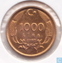 Turkey 1000 lira 1997