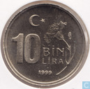 Turkey 10 bin lira 1999 (PROOF)