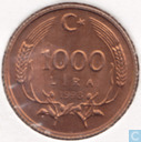 Turkey 1000 lira 1998