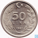 Turkey 50 lira 1987