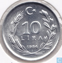 Turkey 10 lira 1984