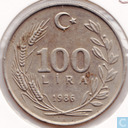 Turkey 100 lira 1986