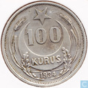 Turkey 100 kurus 1934 (low star)