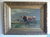 Kostbaarste item - Belgian landscape with cows