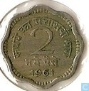 India 2 naye paise 1961 (Calcutta)