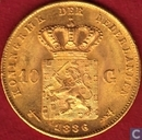 Netherlands 10 gulden 1886