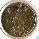 "Hongkong 10 cents 1997 ""Retrocession to China"""