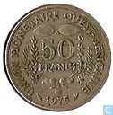 "West African States 50 francs 1975 ""F.A.O."""