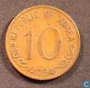 South Korea 10 hwan 1961 (year 4294)