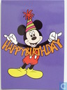Geen tekst - Mickey met Happy Birthday