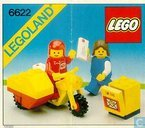 Lego 6622 Mailman on Motorcycle