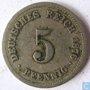 Empire allemand 5 pfennig 1876 (J)