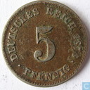 Empire allemand 5 pfennig 1874 (G)