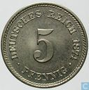 Empire allemand 5 pfennig 1874 (A)