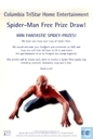 Spider-Man Free Prize Draw!