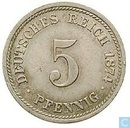 Empire allemand 5 pfennig 1874 (D)