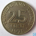Trinidad and Tobago 25 cents 1971