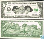 the THREE STOOGES 9 dollar bill