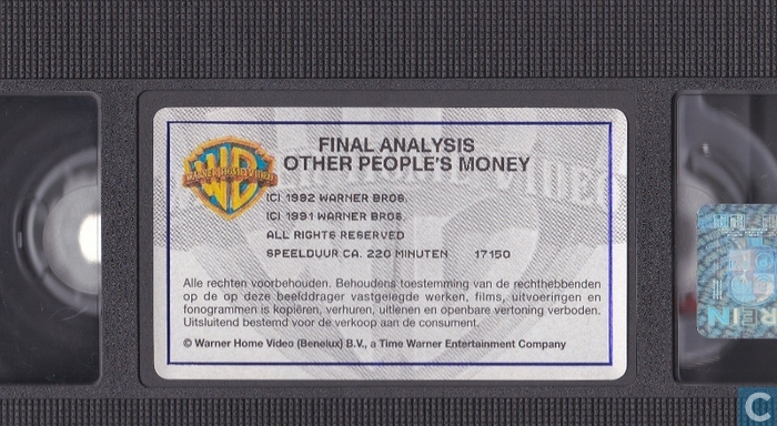 an analysis of the movie other peoples money American rhetoric: movie speech other people's money (1991) larry the liquidator garfield addresses the stockholders of new england wire & cable co.