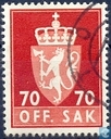 Postage Stamps - Norway - 1969 OFF. I phosphorescent SAK 70