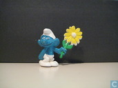 smurf with flower