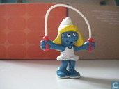 Smurfette on the skipping rope