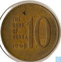 South Korea 10 won 1968