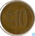 South Korea 10 won 1973