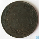 Romania 5 bani 1867 (Heaton)