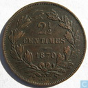Luxembourg 2.5 centimes 1870 (with point)