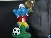 Football Smurf with Cup