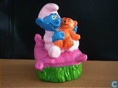 Baby smurf with Footman on pillow