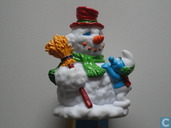 Smurf with snowman