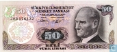 Turkey 50 Lira ND (1983/L1970)