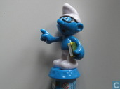 Brainy Smurf auf Candy-Stick