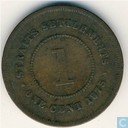 Straits Settlements 1 cent 1875