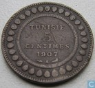 Tunisia 5 centimes 1907 (year 1325)