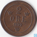 Sweden 2 öre 1877 (small letters)