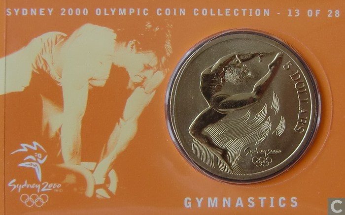 sydney 2000 olympic coin gymnastics games - photo#2