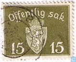 Postage Stamps - Norway - Without watermark 1941 offentlig Sak 15