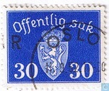 Postage Stamps - Norway - Without watermark 1941 offentlig Sak 30