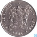 South Africa 10 cents 1986