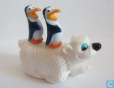 Ours polaires et pingouins