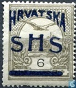 Hungarian stamp overprinted