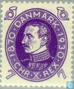 Postage Stamps - Denmark - King Christian X-60th anniversary